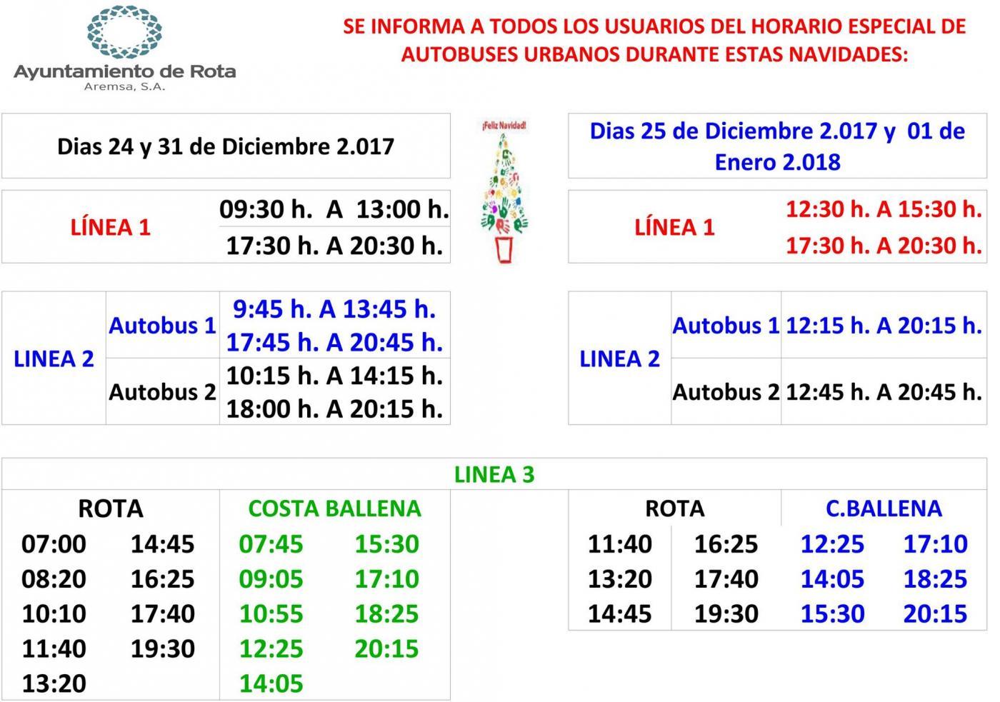 Los Autobuses Adaptan Sus Horarios En Las Fechas Clave De Navidad Andalucía Información Todas Las Noticias De Rota