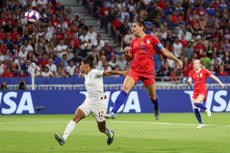 Gol de Alex Morgan. EFE