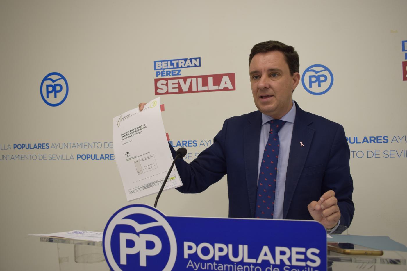 """El PP acusa a Espadas de """"no invertir"""" 357.000 empleos en formación para empleo"""