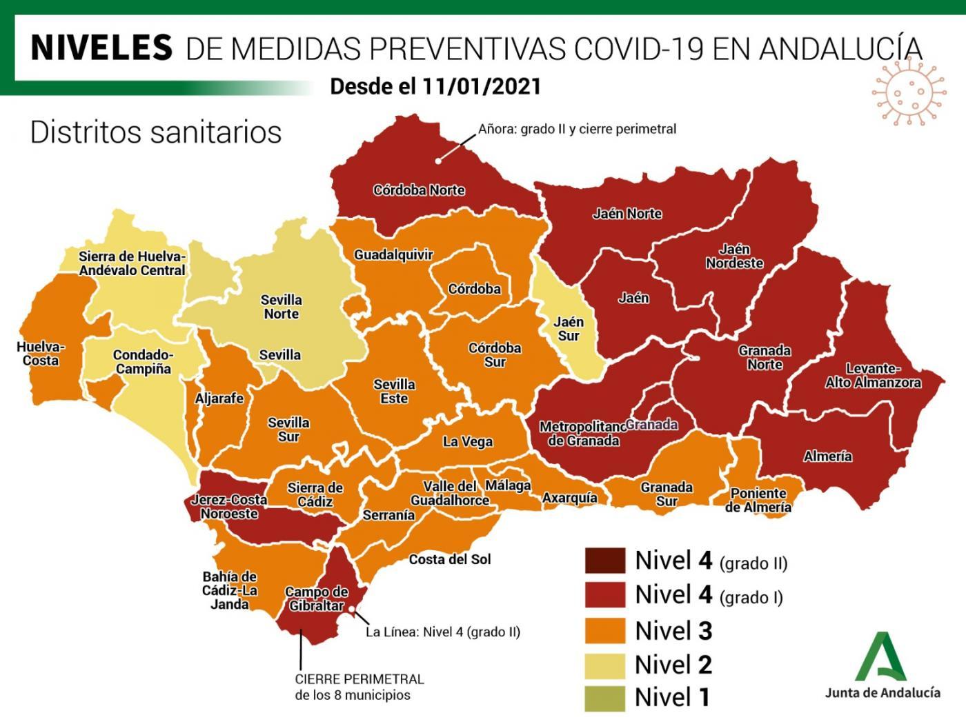 Mapa de incidencia.