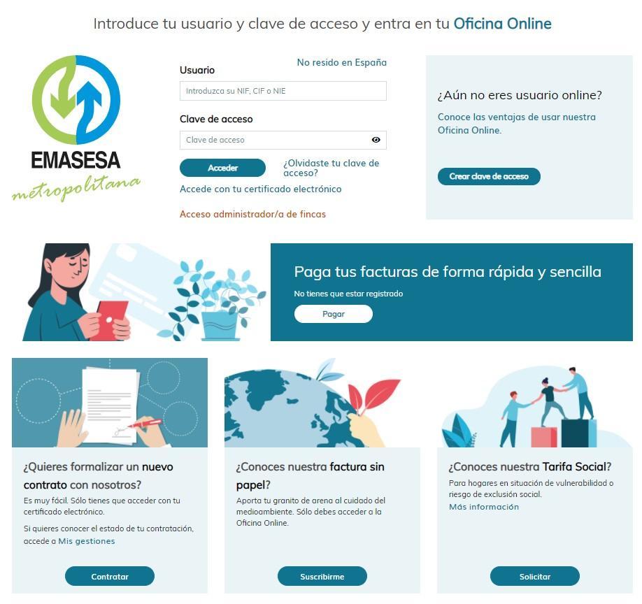 La nueva Oficina Online de Emasesa.