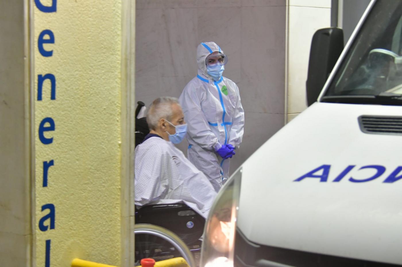Imagen del presunto autor del incendio en el Hospital Puerta del Mar de Cádiz