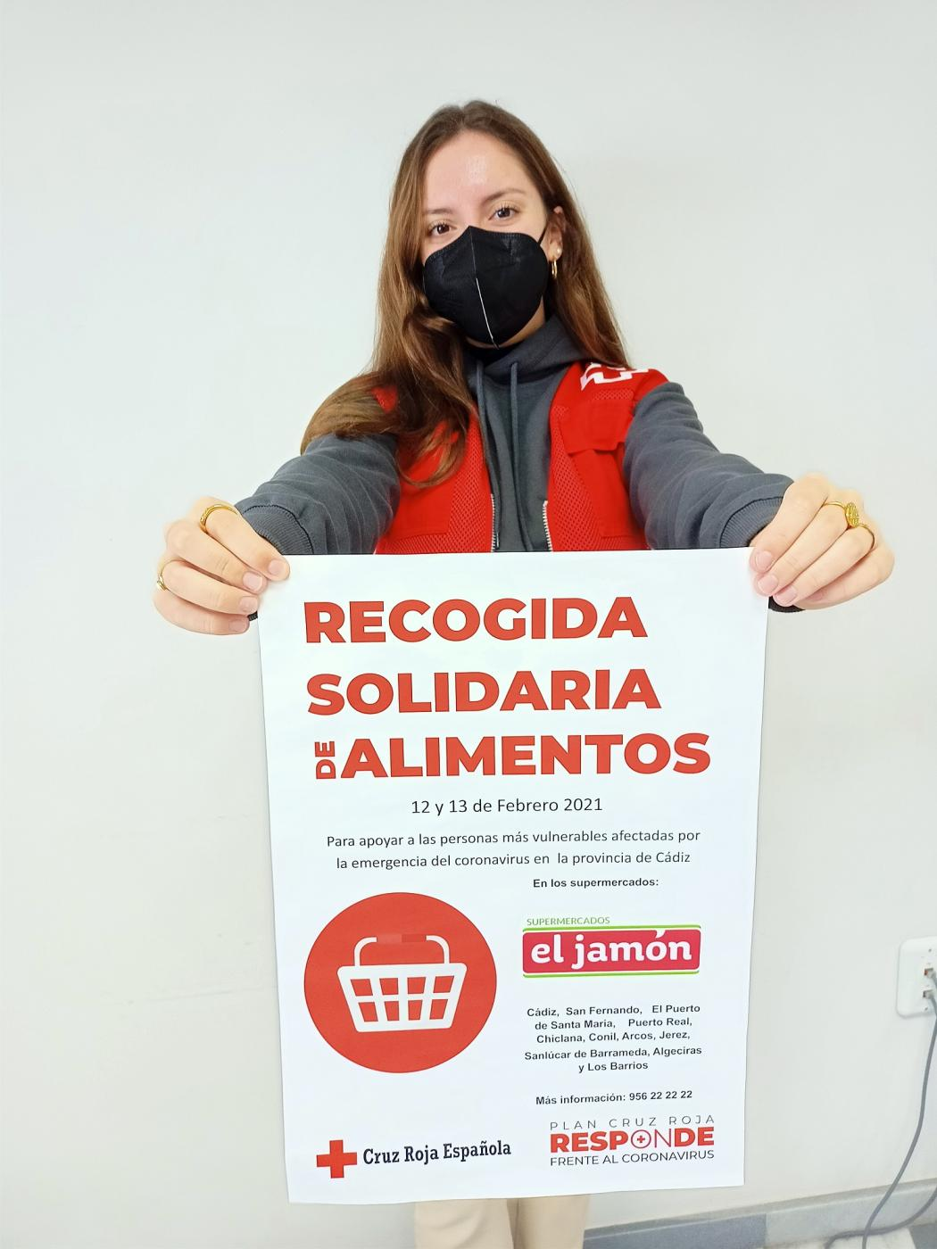 Recogida de alimentos de Cruz Roja.
