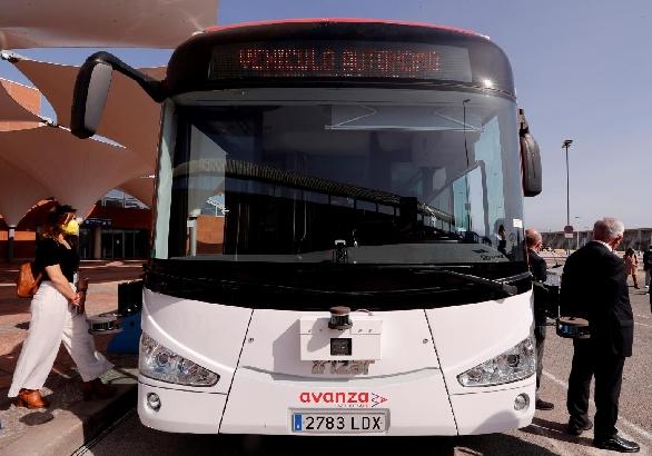 El primer autobús sin conductor de Europa iniciará su actividad este sábado en Málaga