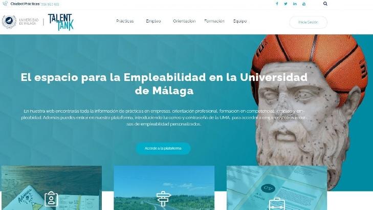 Lanzan Talent Tank, nuevo espacio web para la empleabilidad en la Universidad de Málaga