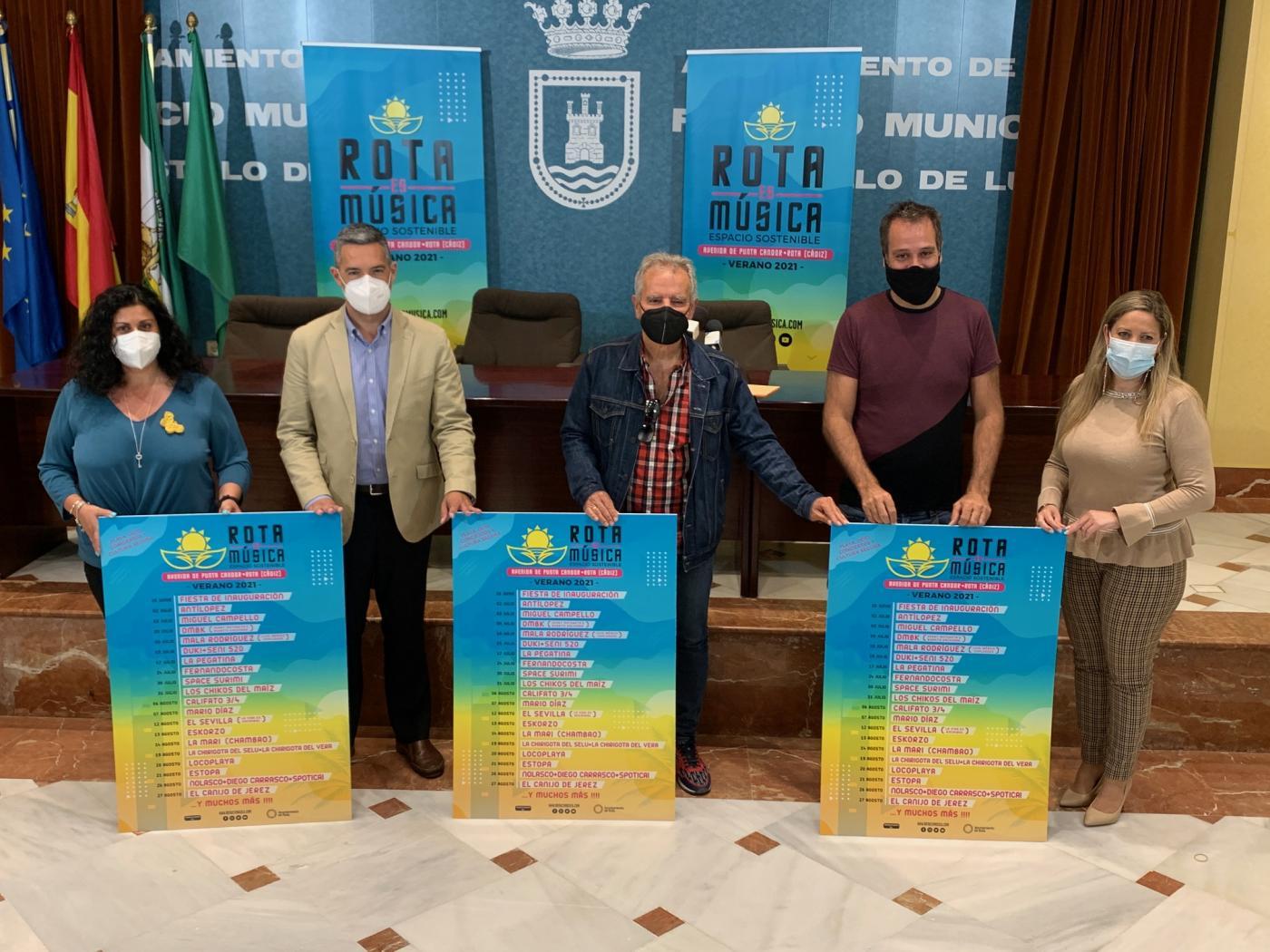 El ciclo de conciertos 'Rota Es Música' traerá a artistas como Estopa al municipio