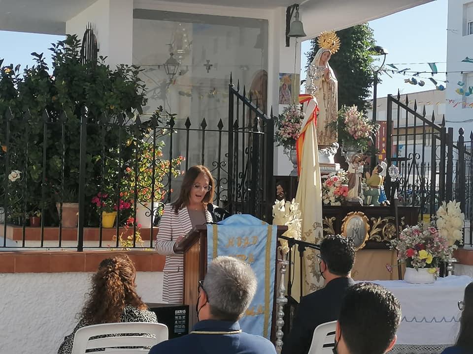 Emotiva exaltación de Rosario Picazo a la Virgen de Fátima en su día