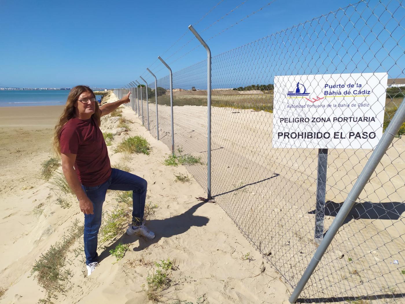UP denuncia que el vallado del espigón de Valdelagrana no tiene licencia