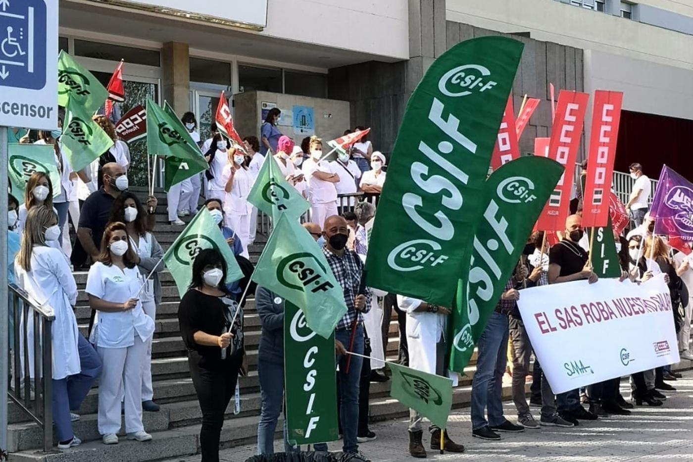 """CSIF denuncia """"maltrato"""" a los trabajadores del SAS por un impago de la productividad"""