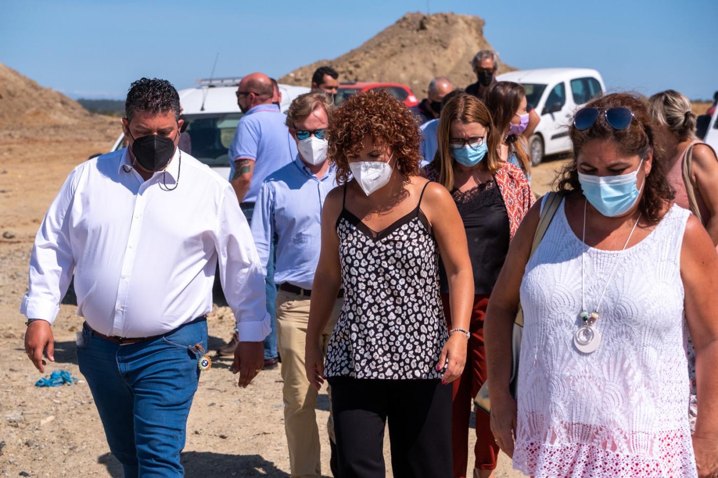 María Eugenia Limón visita la planta de reciclaje de residuos de Villarrasa