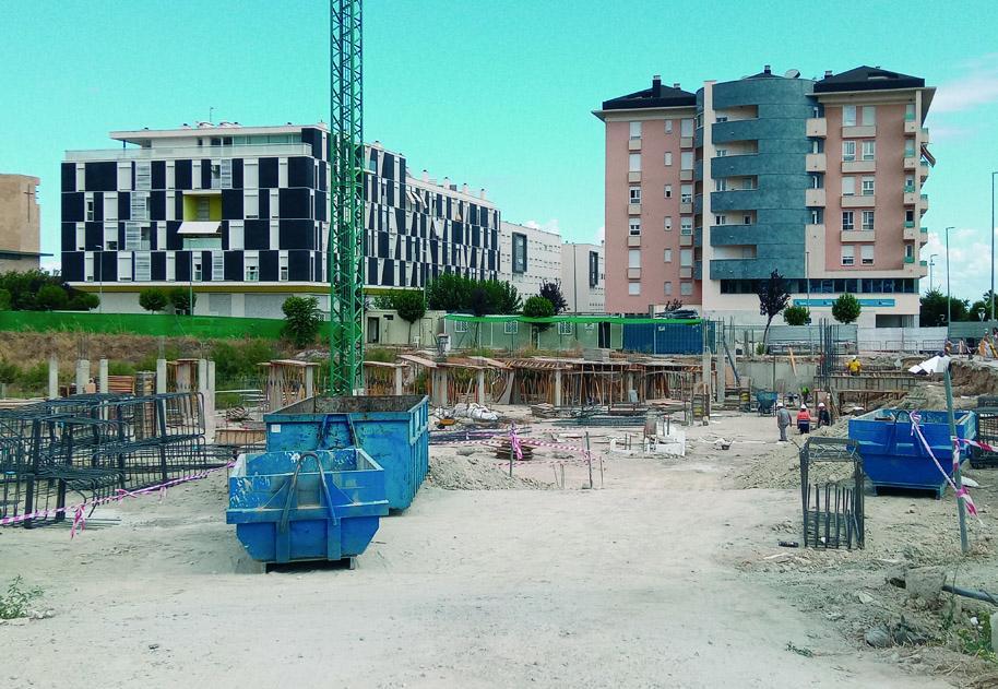 El estado de ejecución de la obra del Conservatorio Superior de Jaén es ya del 8%