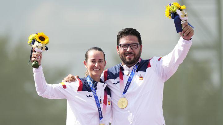 Fátima Gálvez, oro en tiro olímpico mixto junto a Alberto Fernández