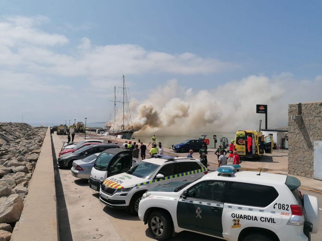 Incendio en Sotogrande.