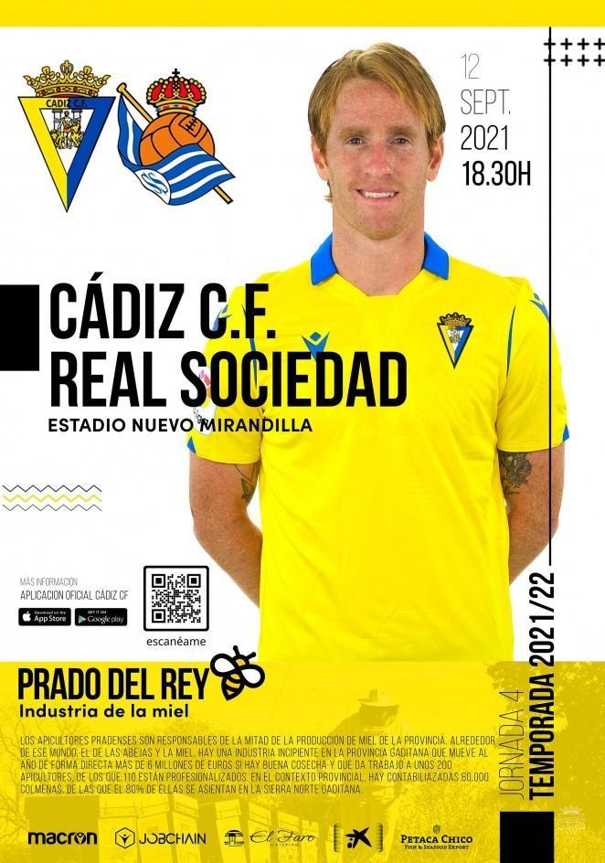 Cartel Cádiz-Real Sociedad.