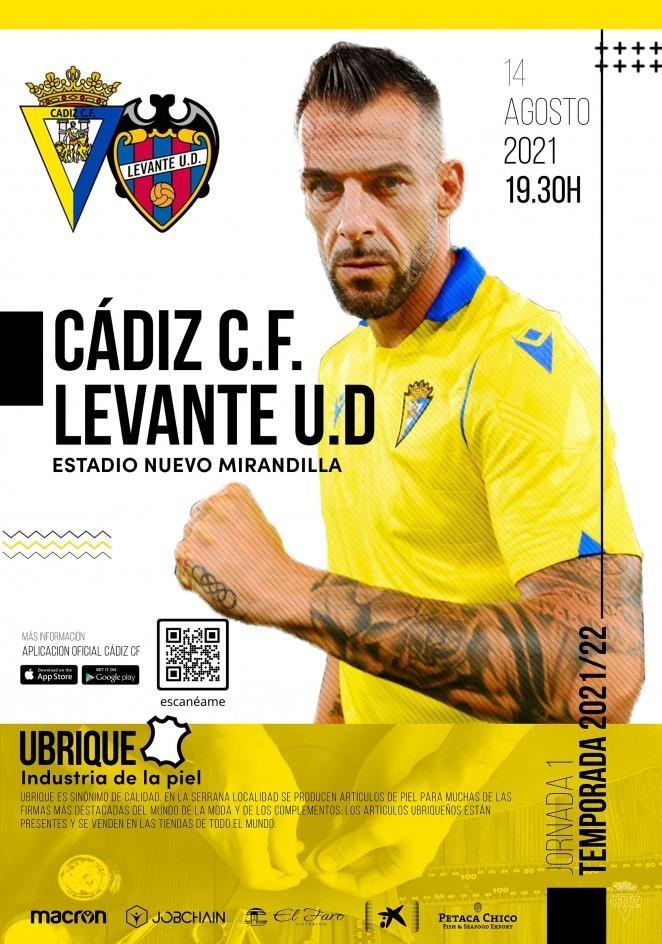 Cartel Cádiz-Levante.