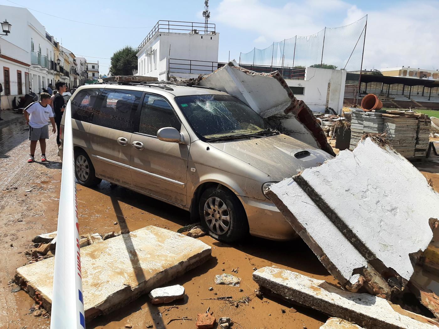 Inundaciones en la provincia de Huelva.