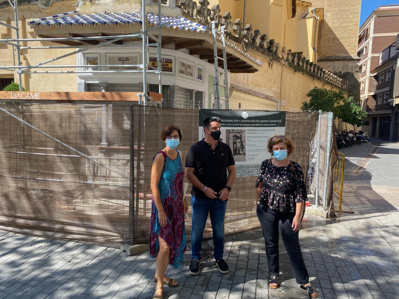 "IU critica que las obras del quiosco del Bulevar ""acumulan un retraso"" de seis meses"