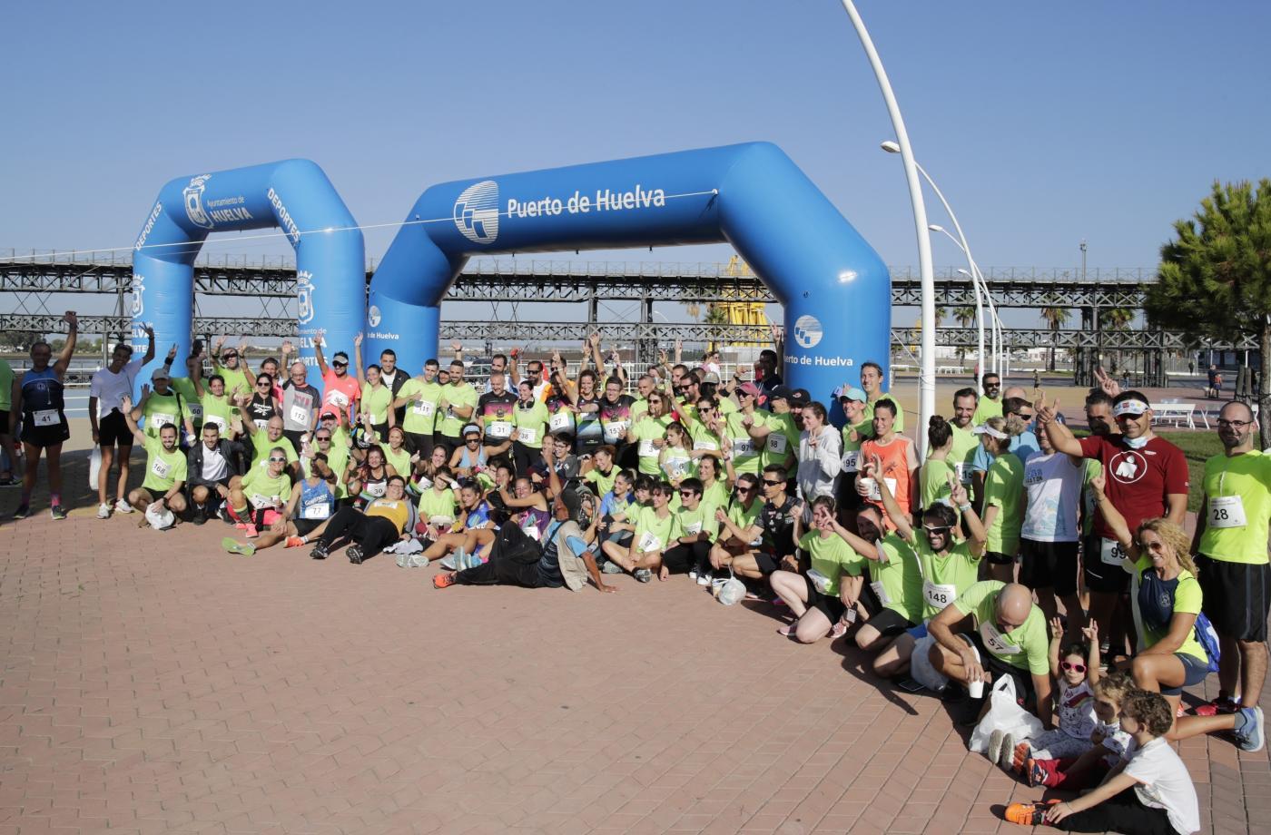 Carreras solidarias junto al Puerto de Huelva
